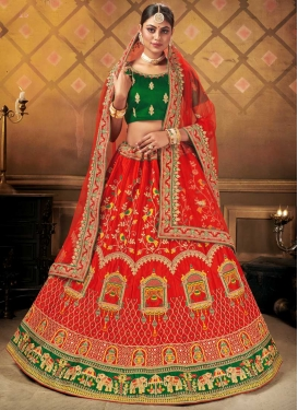 Net Trendy A Line Lehenga Choli For Bridal