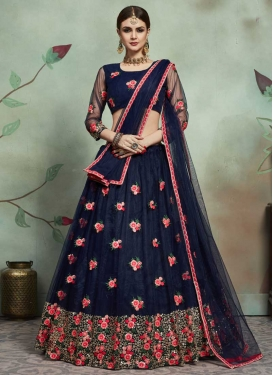 Net Trendy A Line Lehenga Choli For Ceremonial