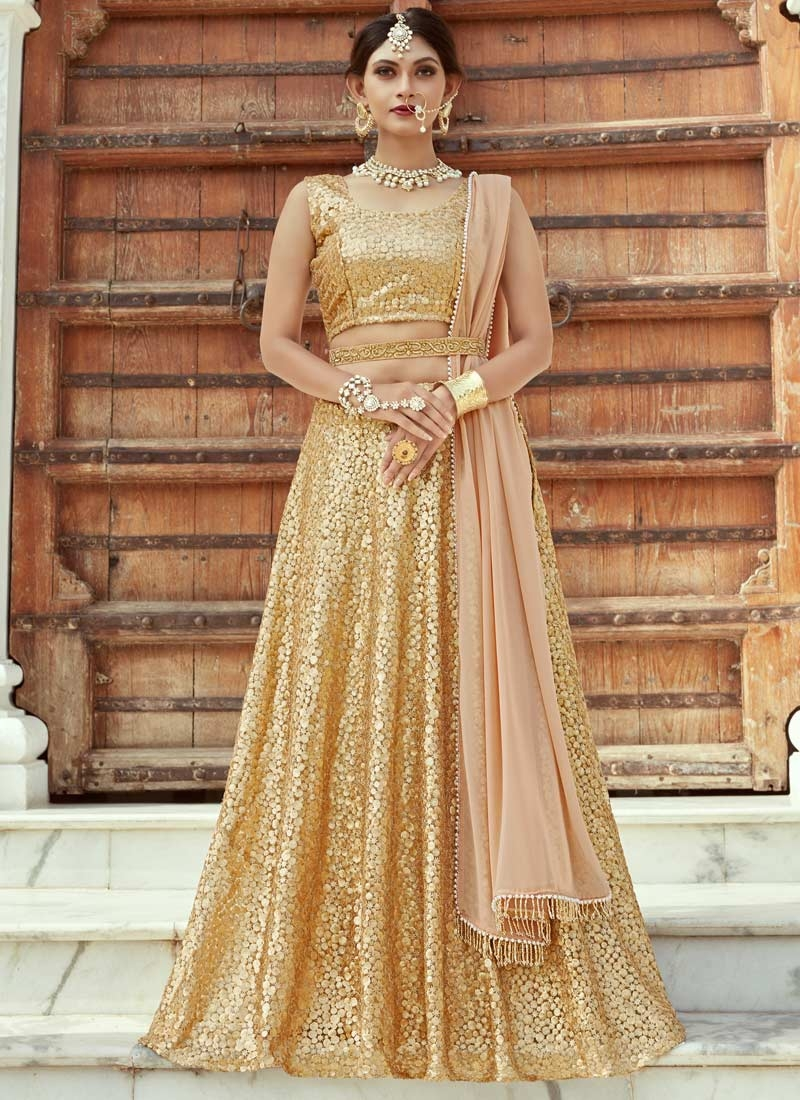 Net Trendy A Line Lehenga Choli For Festival