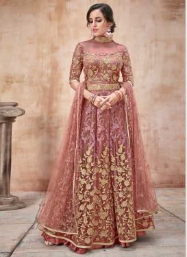 Net Trendy Anarkali Salwar Suit For Party
