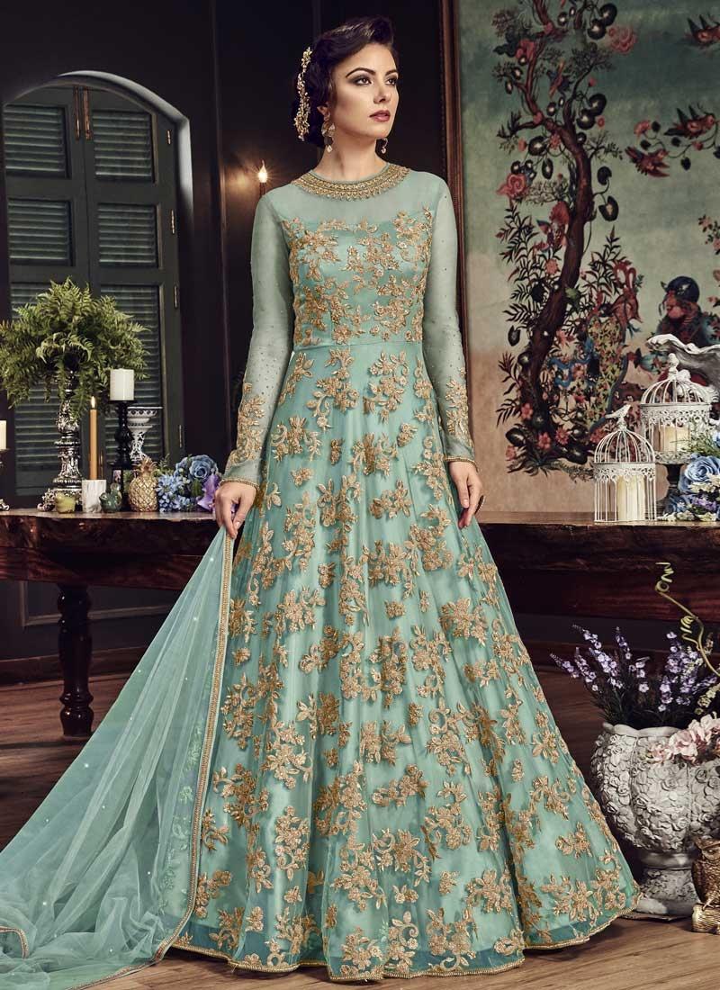 Net Trendy Long Length Anarkali Suit For Festival