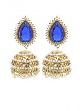 Nice Gold Rodium Polish Brass Earrings For Festival