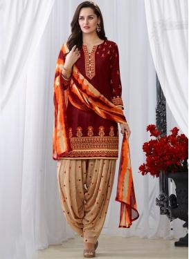 Nice Maroon Festival Punjabi Suit