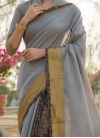 Nice Print Grey Traditional Saree - 1