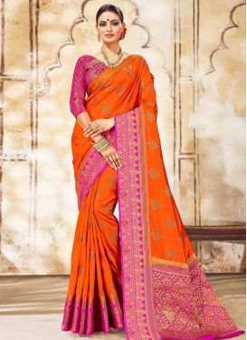 Nylon Silk Traditional Designer Saree