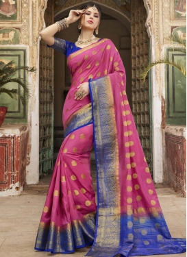 Nylon Silk Woven Work Contemporary Style Saree