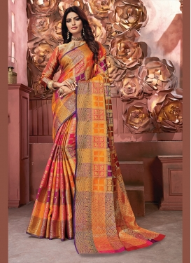 Observable Multi Colour Art Silk Traditional Designer Saree