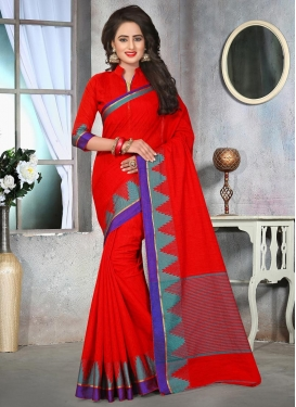 Observable Resham Work Classic Saree For Ceremonial