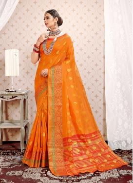 Orange Color Traditional Designer Saree