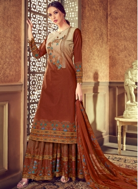 Orange Festival Cotton Designer Pakistani Suit