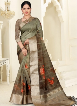 Organza Contemporary Style Saree For Ceremonial