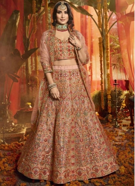 Organza Embroidered Work A Line Lehenga Choli