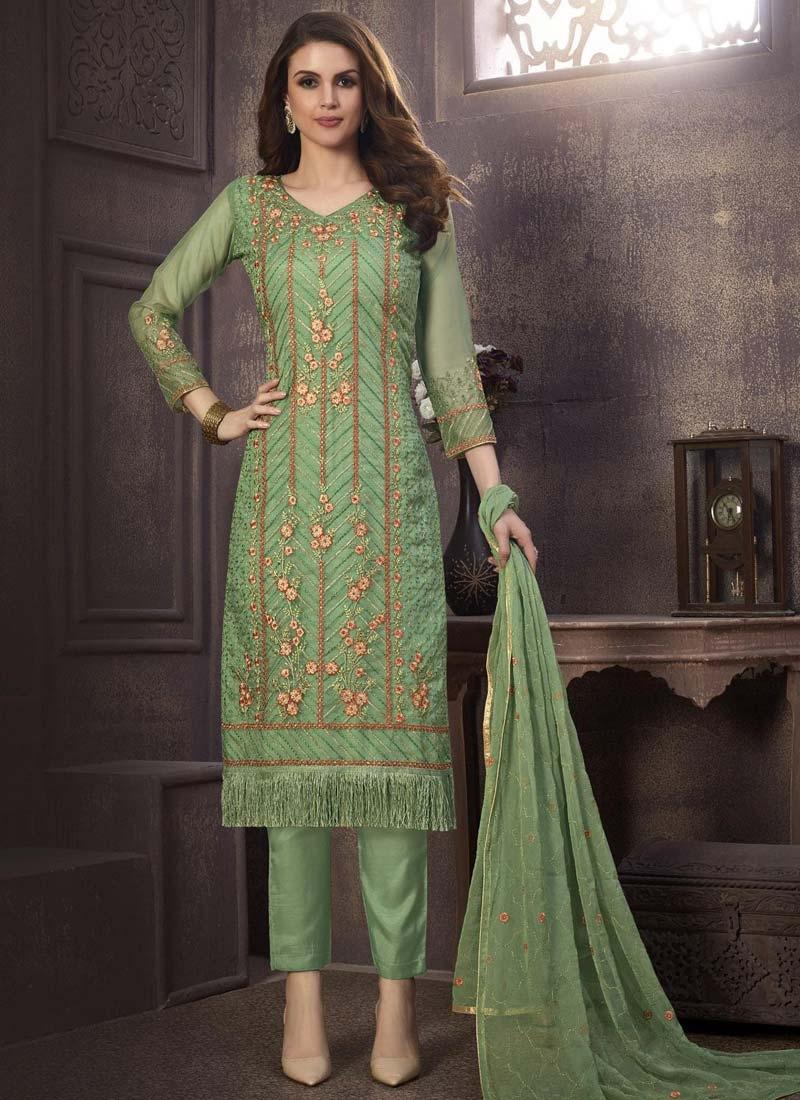 Organza Pant Style Pakistani Salwar Suit