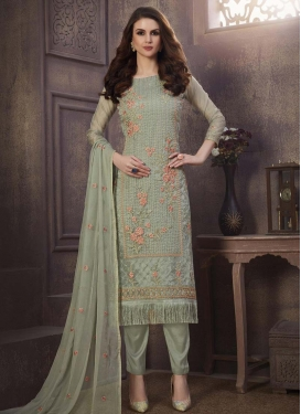 Organza Pant Style Pakistani Suit For Ceremonial
