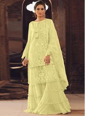 Organza Sharara Salwar Suit