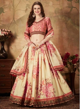 Organza Trendy Lehenga Choli For Festival