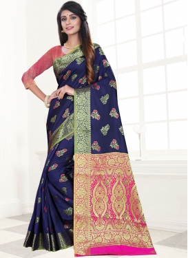Orphic Art Silk Festival Traditional Designer Saree