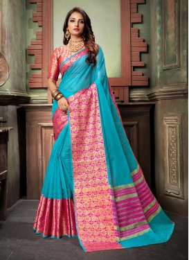 Orphic Cotton Silk Ceremonial Designer Saree