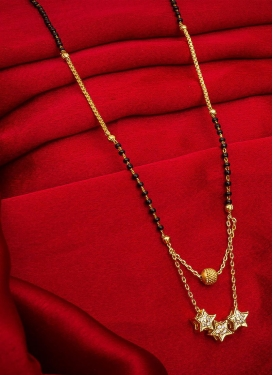 Outstanding Gold Rodium Polish Alloy Black and Gold Mangalsutra