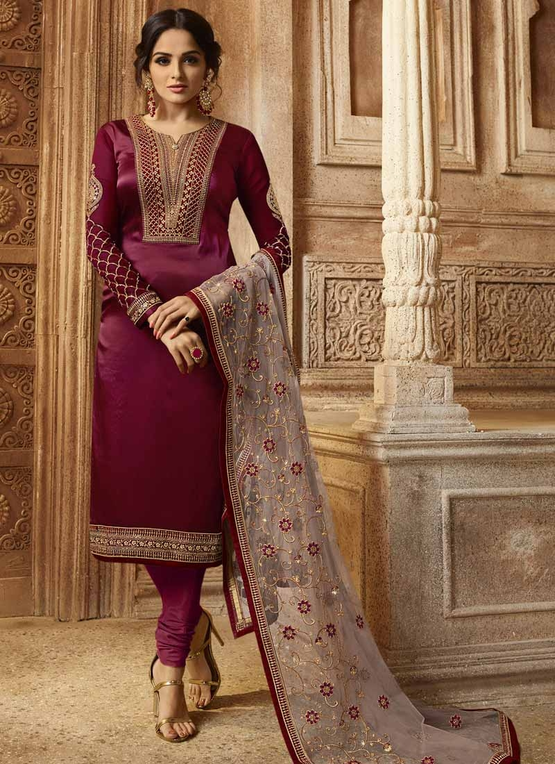 Pakistani Straight Salwar Suit