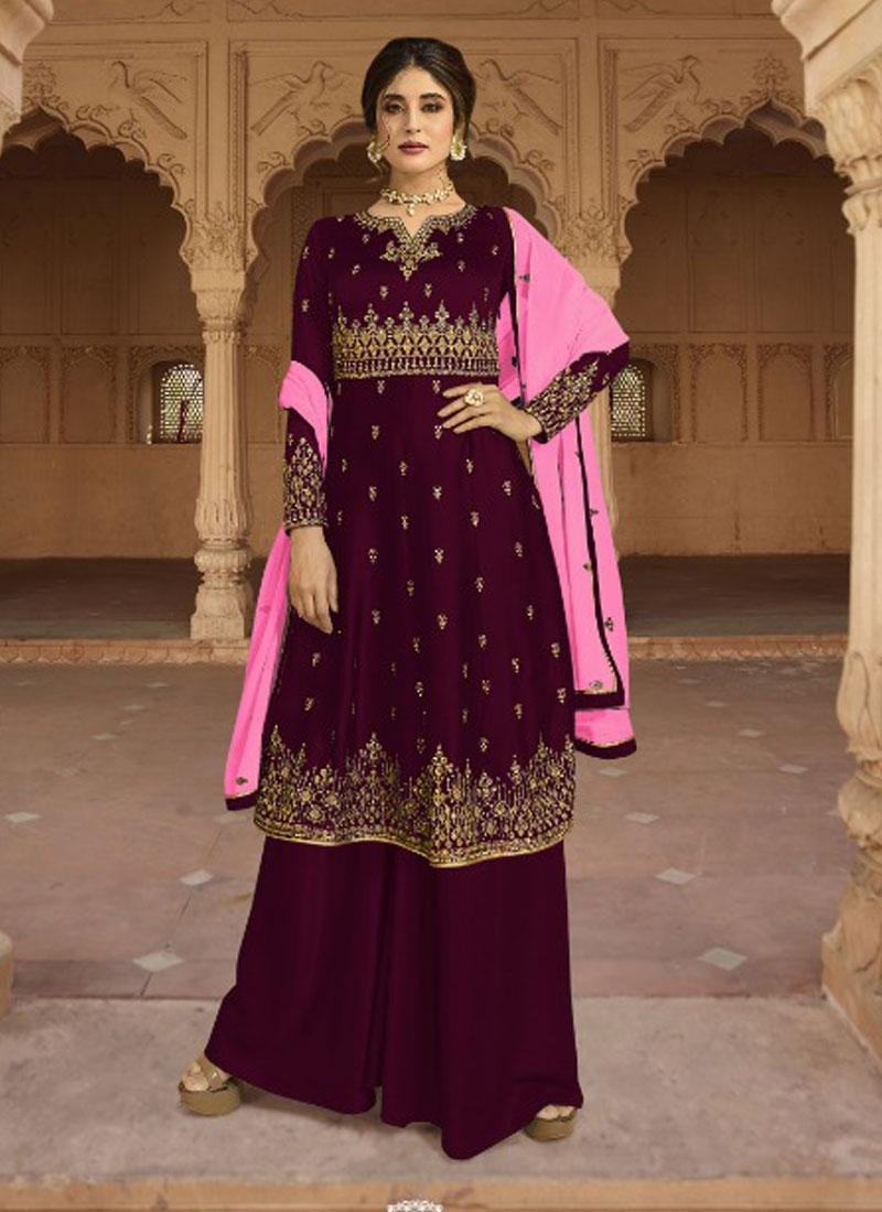 Palazzo Designer Salwar Suit For Ceremonial