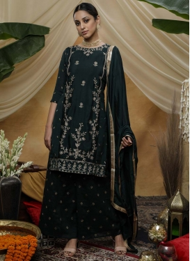 Palazzo Straight Salwar Kameez For Ceremonial