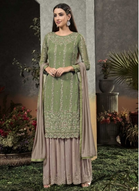 Palazzo Straight Salwar Kameez For Festival