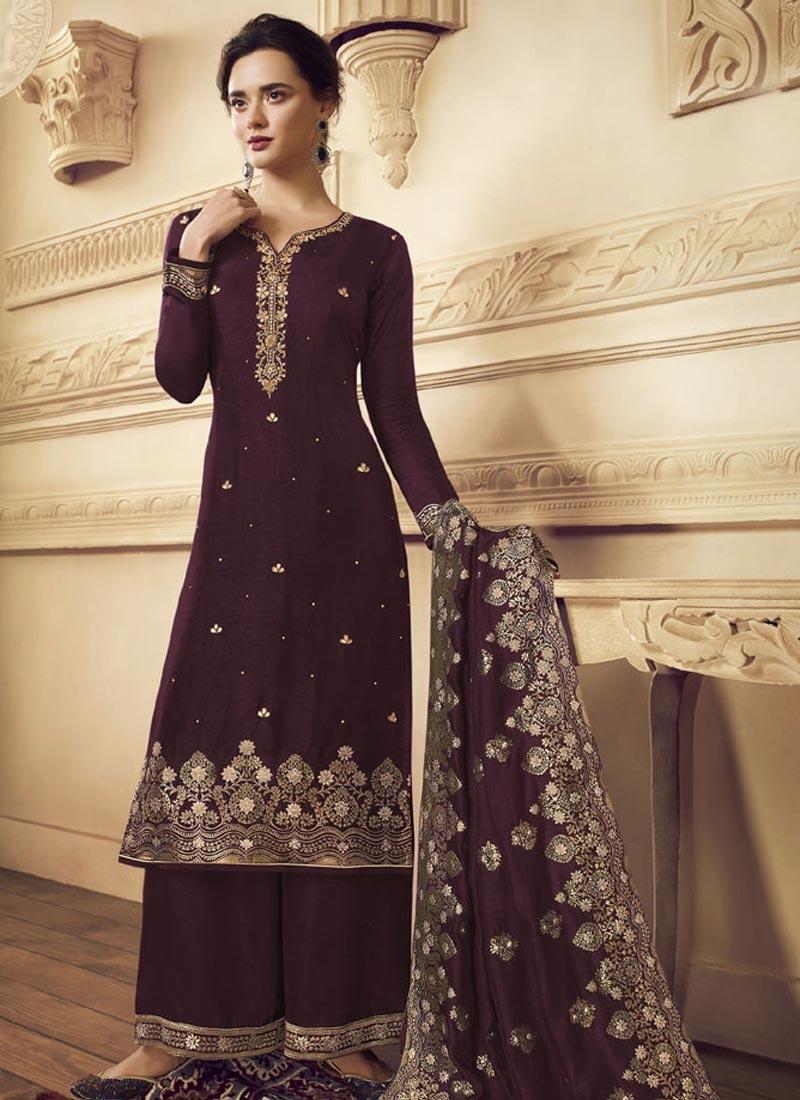 Palazzo Straight Salwar Suit