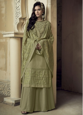 Palazzo Straight Salwar Suit For Ceremonial