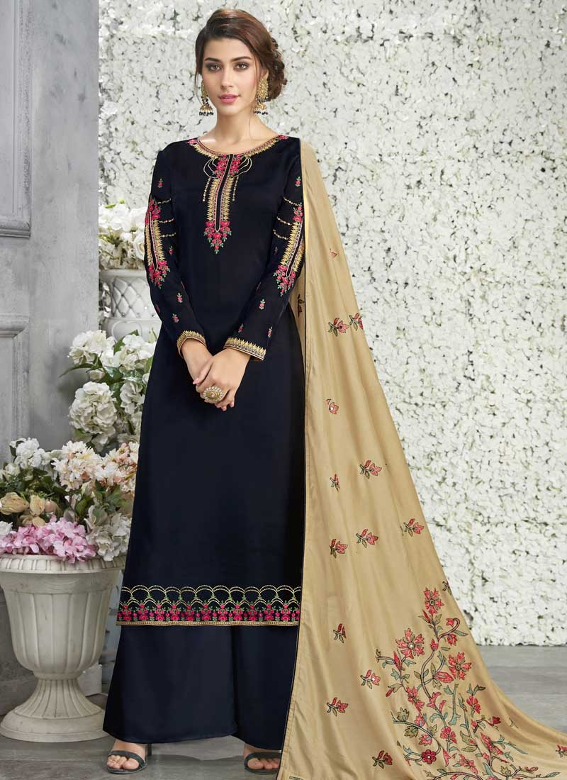 Palazzo Style Pakistani Salwar Kameez For Ceremonial