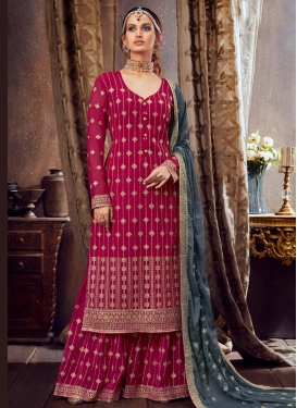 Palazzo Style Pakistani Salwar Suit For Festival