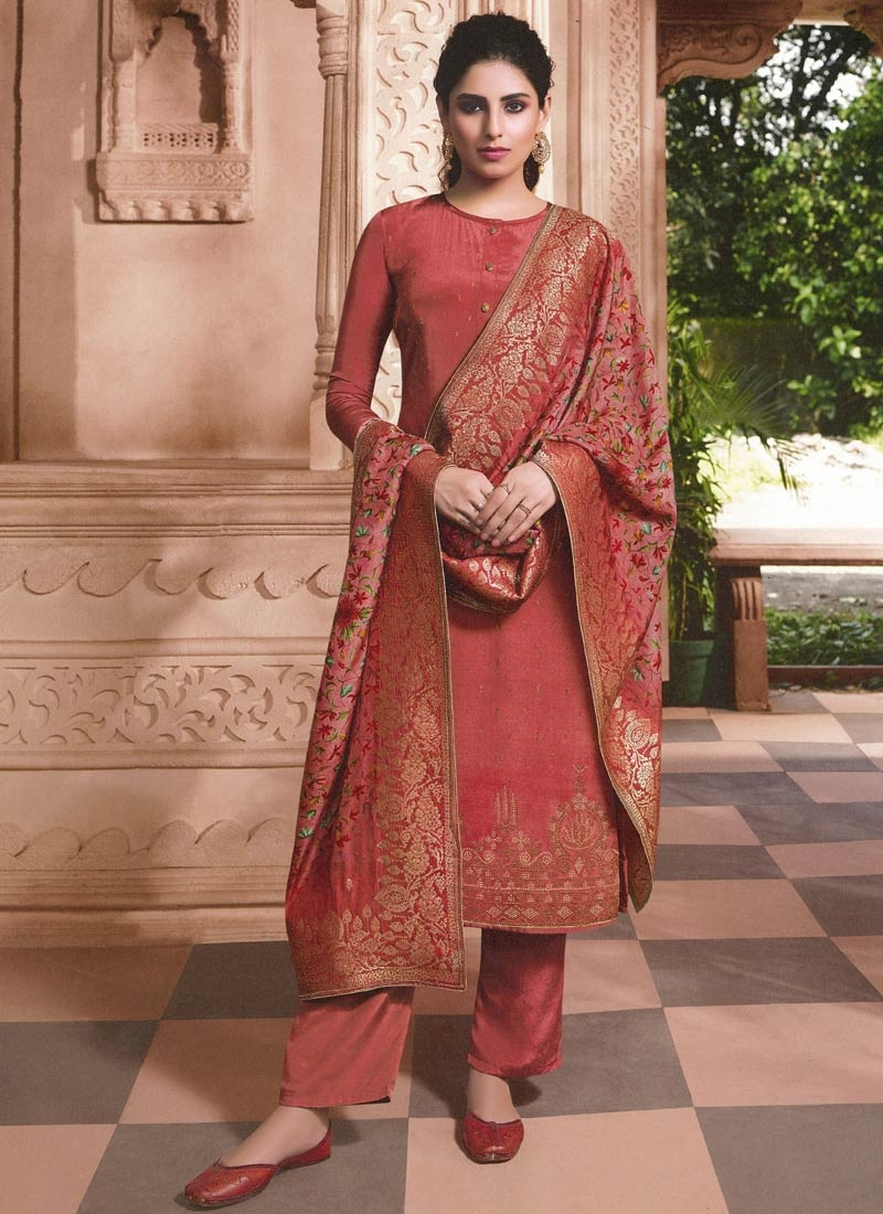 Pant Style Pakistani Salwar Suit For Festival