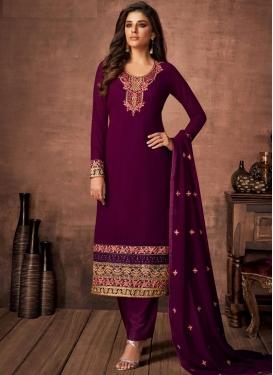 Pant Style Pakistani Suit For Festival