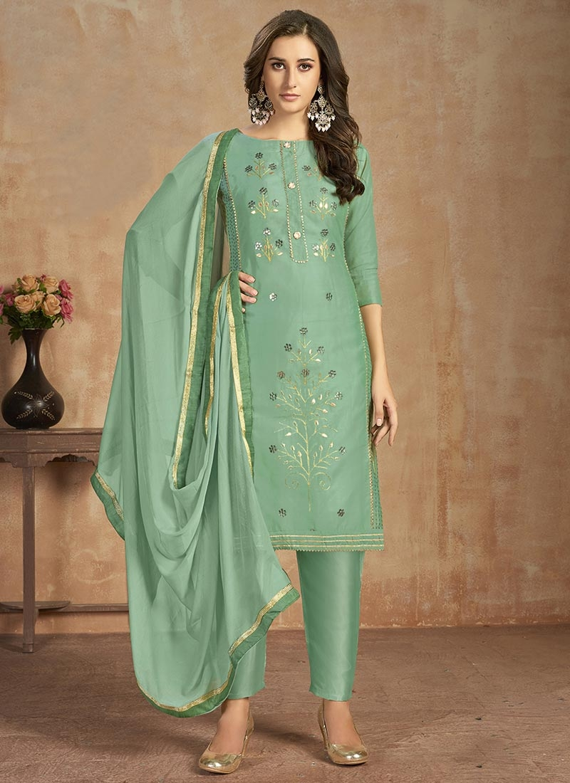 Pant Style Straight Salwar Suit