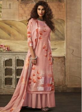 Pasmina Digital Print Work Palazzo Style Pakistani Salwar Suit
