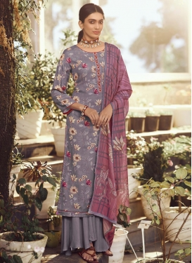 Pasmina Palazzo Style Pakistani Salwar Kameez