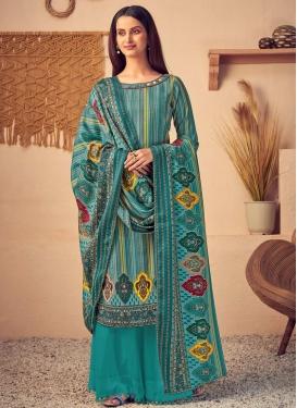 Pasmina Palazzo Style Pakistani Salwar Suit