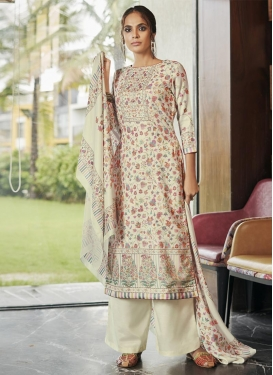 Pasmina Palazzo Style Pakistani Salwar Suit For Festival