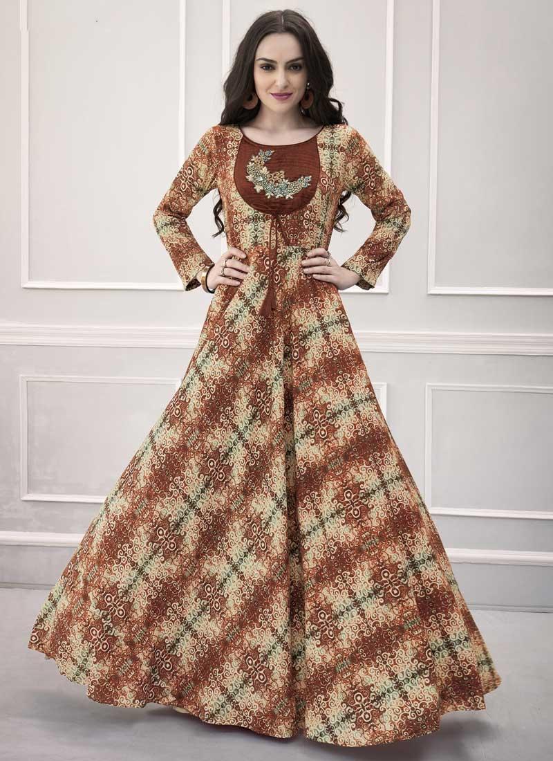 Pasmina Readymade Designer Gown