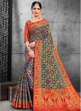 Patola Silk Designer Contemporary Saree