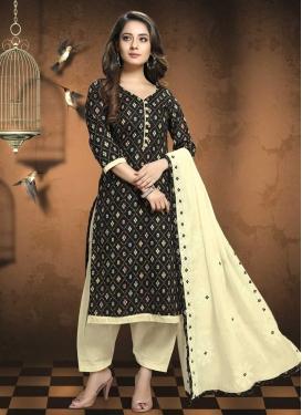 Patola Silk Trendy Straight Salwar Kameez