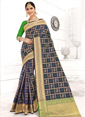 Patola Silk Woven Work Designer Contemporary Saree