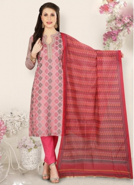 Pink and Rose Pink Pant Style Pakistani Suit For Ceremonial