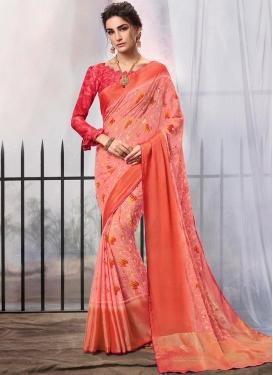 Pink Brasso Party Classic Designer Saree