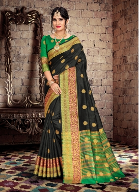 Pleasance Cotton Silk Weaving Traditional Saree