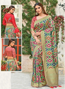 Pleasance Multi Colour Weaving Art Silk Traditional Saree