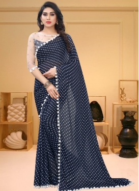 Polka Dotted Work Designer Contemporary Saree