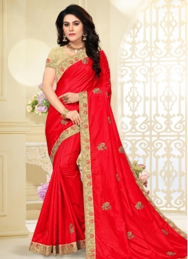 Poly Silk Contemporary Style Saree