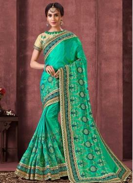Poly Silk Contemporary Style Saree