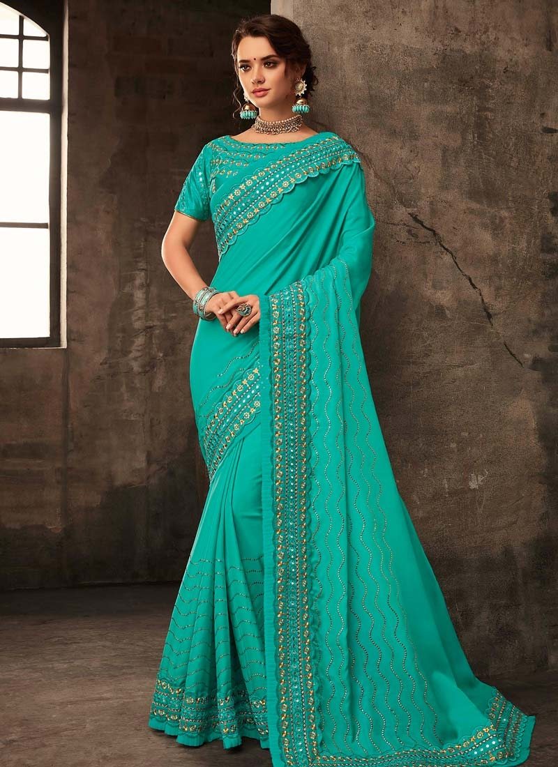 Poly Silk Contemporary Style Saree For Ceremonial